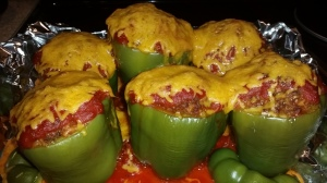 Venison Stuffed Bell Peppers
